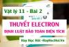 Thuyết Electron Sự nhiễm điện, Công thức Định luật bảo toàn điện tích và Bài tập - Vật lý 11 bài 2